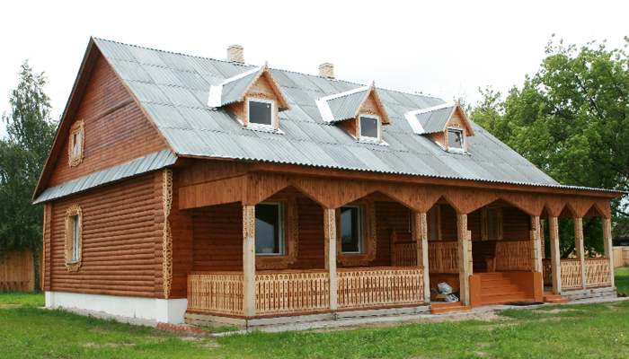 Внешний вид домика для охотников и рыболовов